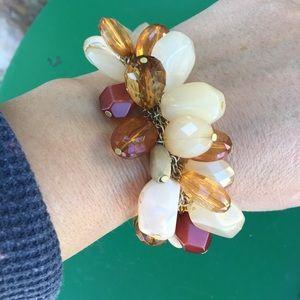 Jewelry - Multi charm faux crystals bracelet